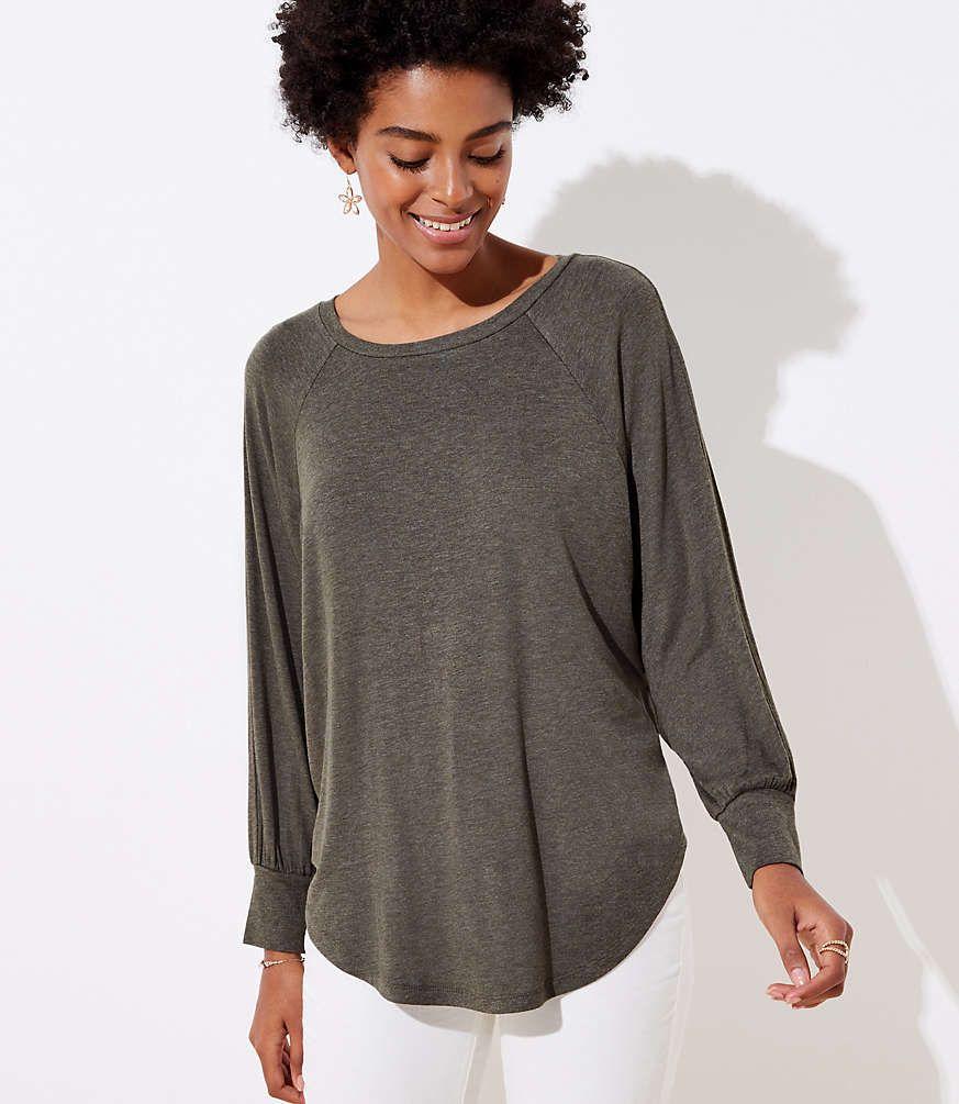 LOFT Dolman Shirttail Tee #loftclothes