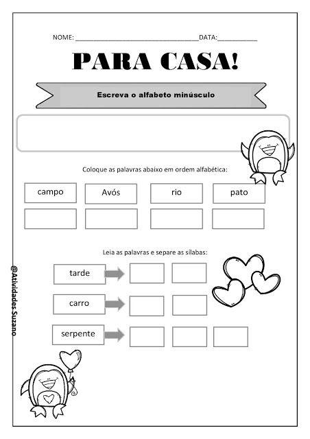 Pin Em Atividades Lingua Portuguesa 1º E 2º Ano