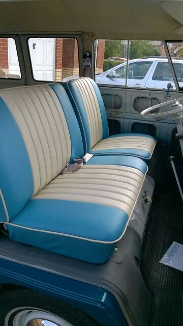 Magnificent Blue And Cream Split Screen Cab Seat Covers Kombi Interior Caraccident5 Cool Chair Designs And Ideas Caraccident5Info