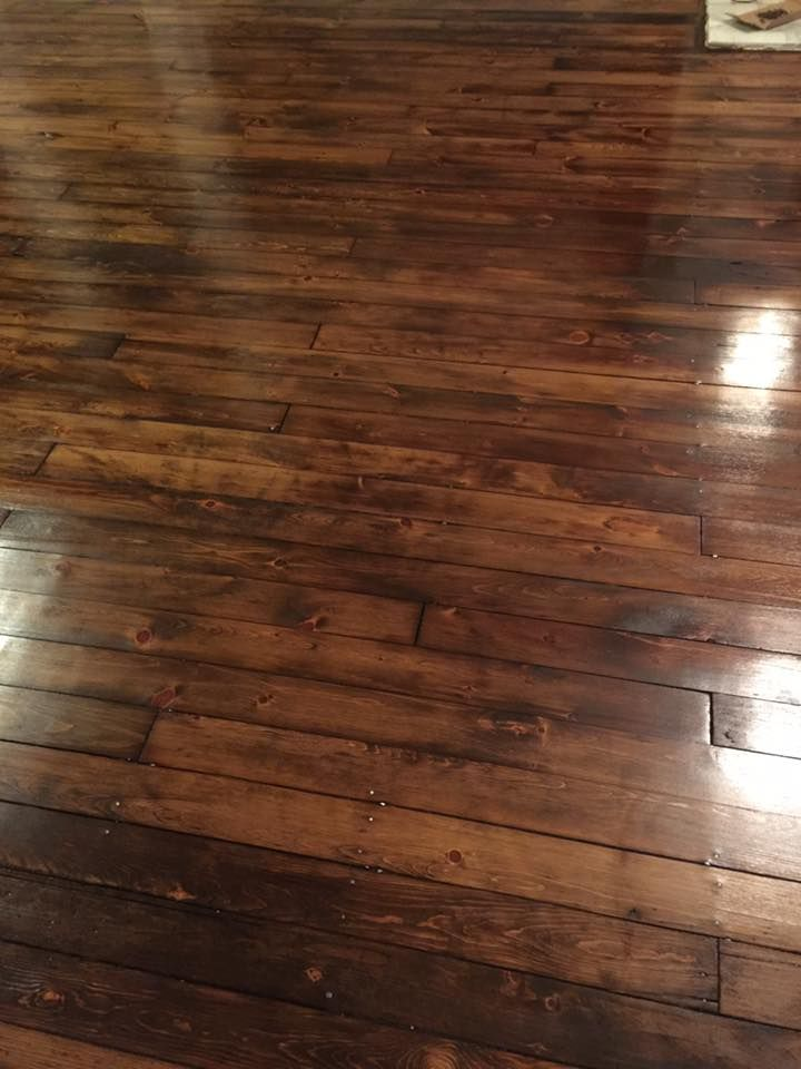 Antique Pumpkin Pine Floors Circa 1901 Minwax Special