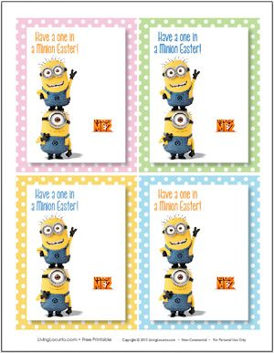 Minion Candy Spoons Easter Free Printables Despicable Me Party Easter Printables Free Despicable Me Party Easter Tags Free Printable