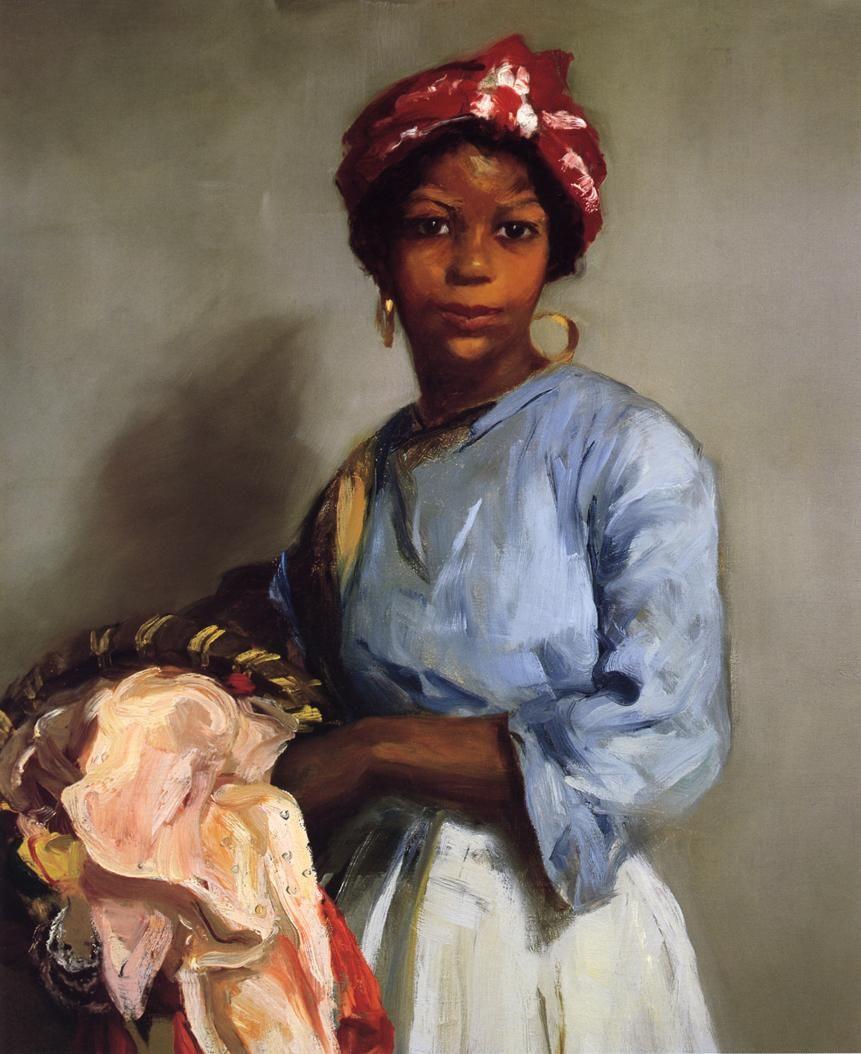 The Laundress Robert Henri 1916 - oil on canvas.