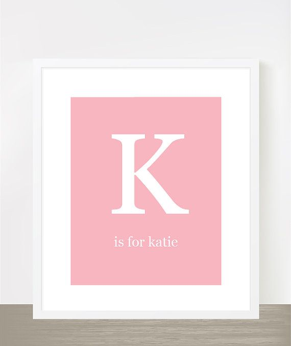 Pin by Homespun Society on Ladies that Lunch and love PINK | Baby names,  Typography poster, Name wall art
