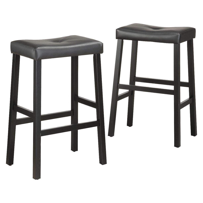 Hahn 29 Barstool Black Set Of 2 Target Black Bar Stools