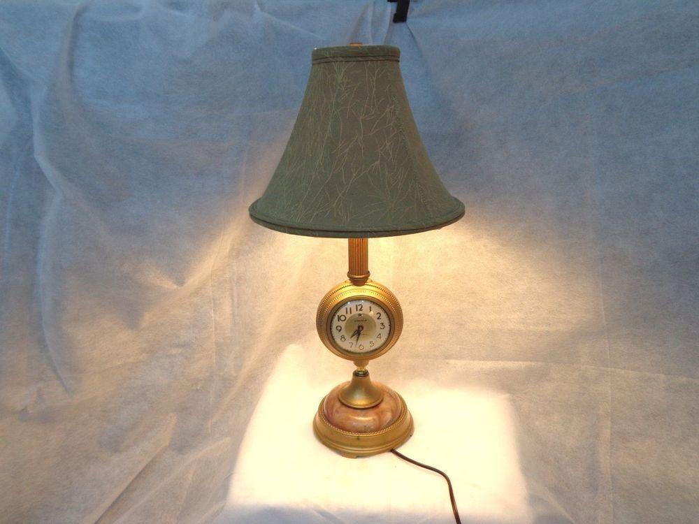 Antique Lincoln Electric Clock Table Lamp 1930 S 1940 S Lamp Table Lamp Table Clock