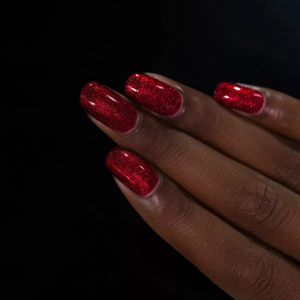 Say Love - Ruby Red Holographic Nail Polish by ILNP
