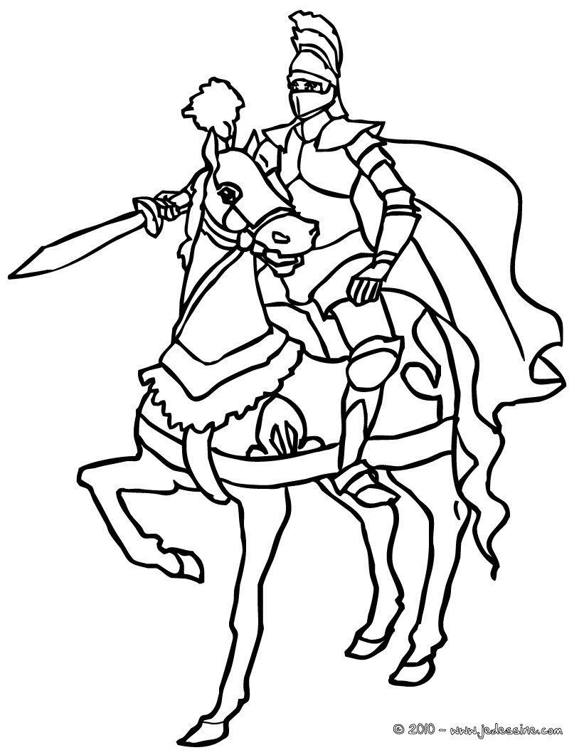 Coloriage En Ligne Chateau.Colorier En Ligne Download Horse Coloring Pages Knight On Horse