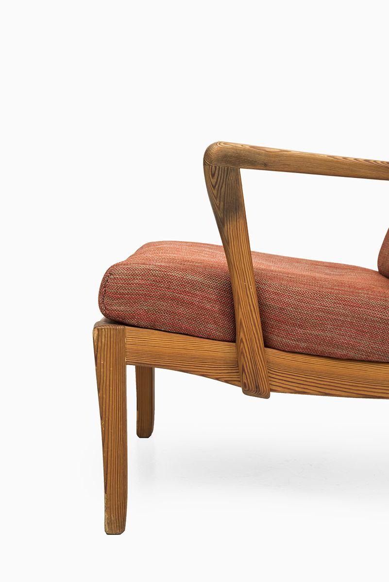 Carl Malmsten Mabulator easy chair in pine wood at Studio Schalling #malmsten