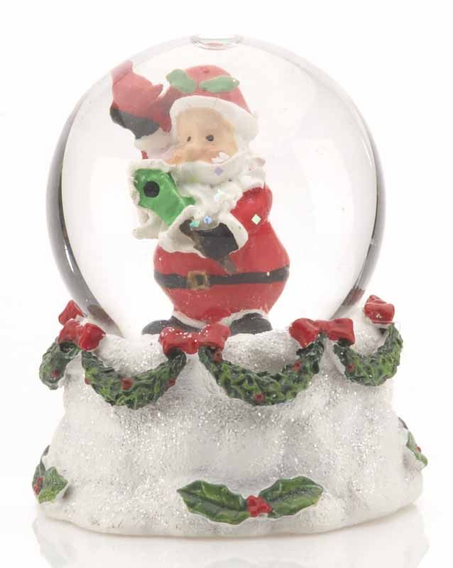 Buy Personalized Mini Santa Holding a Birdhouse Snow Globe - Christ...
