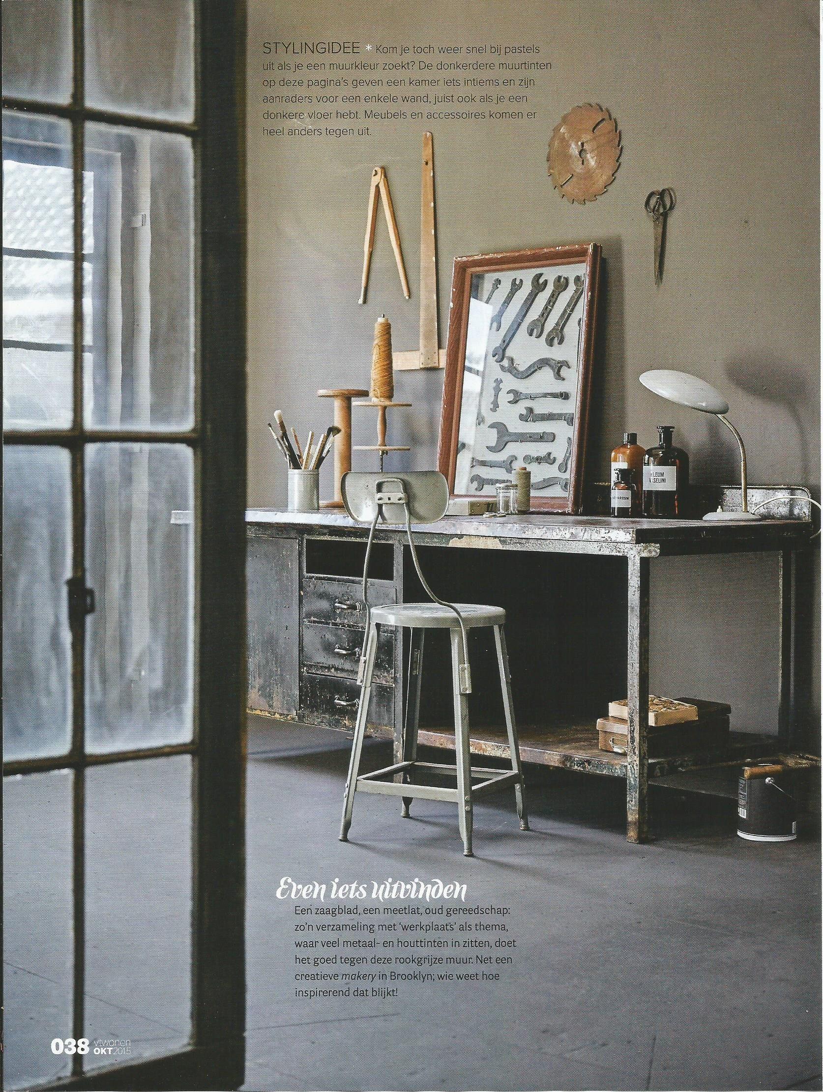 Industrial Interior By Interior Design Magazine Vtwonen Vintage Scissors, Desk