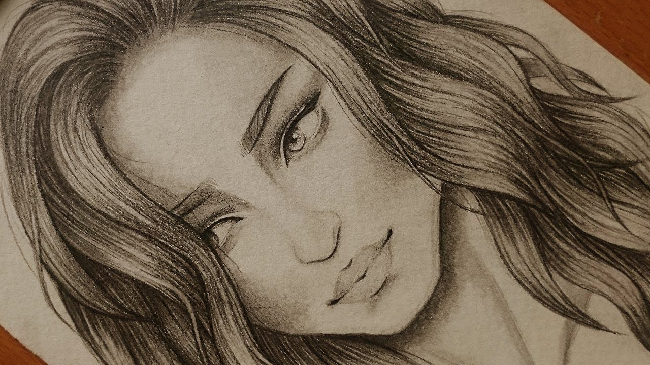 Pin By Khawla On Dania Art Female Sketch Drawings