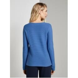 Photo of Tom Tailor women's knit sweater, blue, plain, size xs Tom TailorTom Tailor