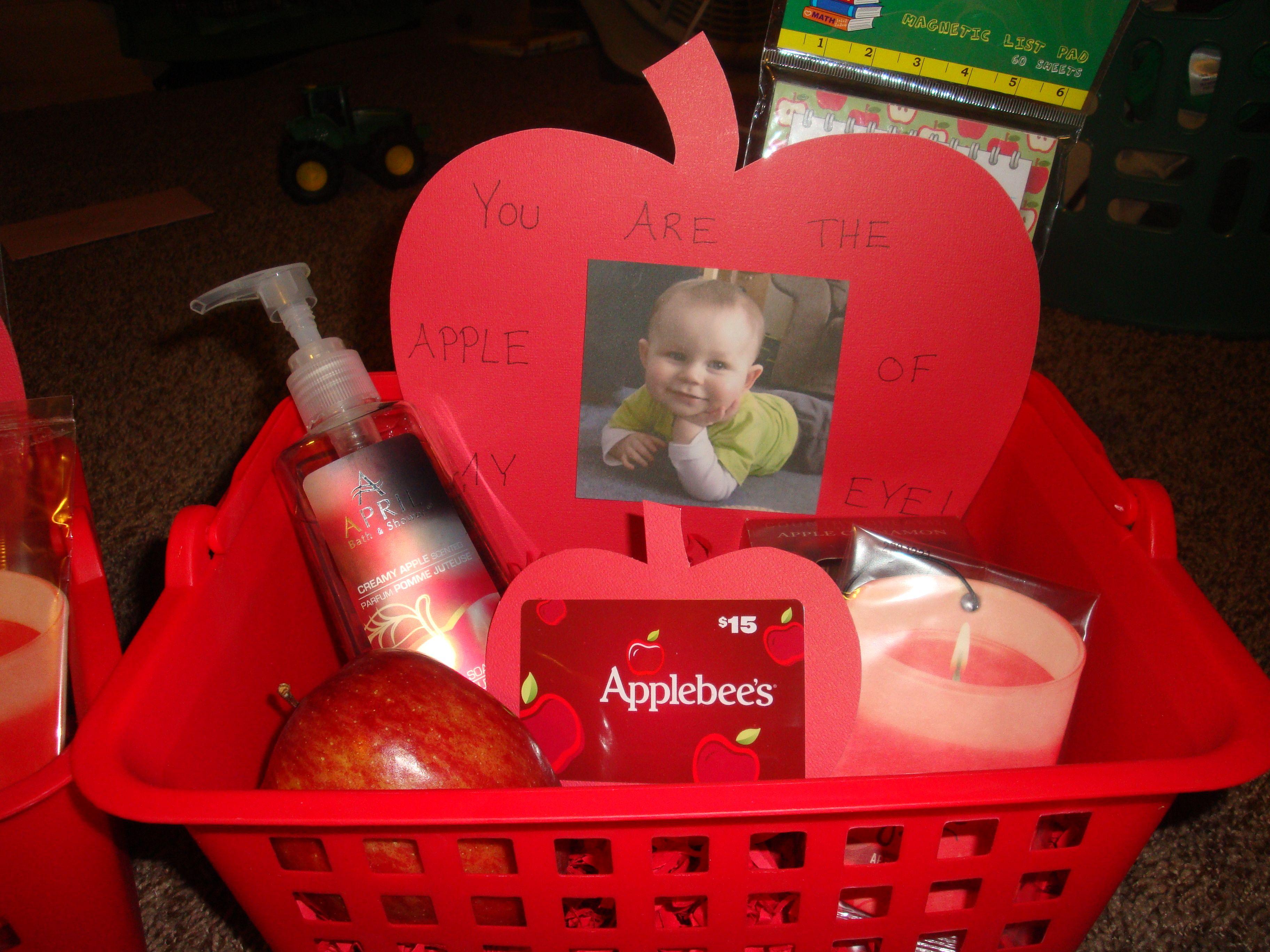 Apple Of My Eye Gift Basket For Daycare Teachers