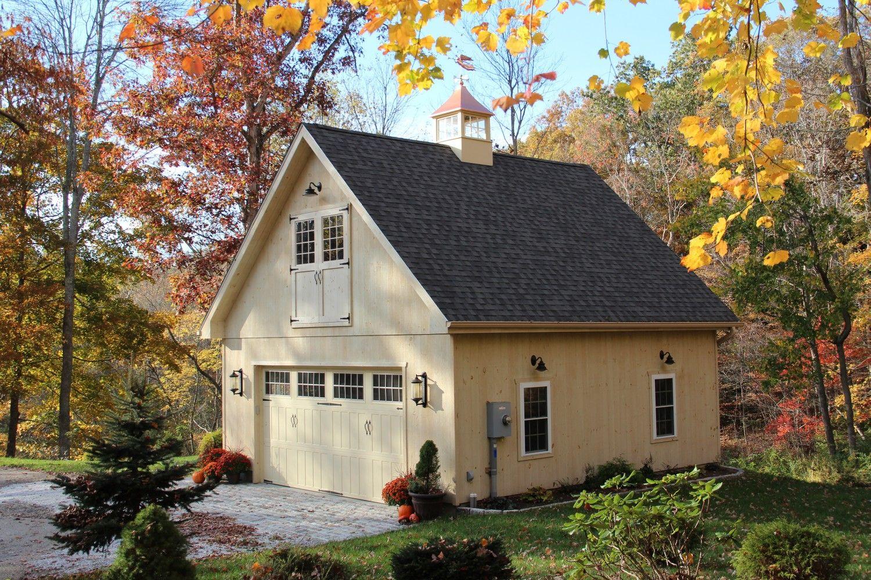 Newport: A-Frame-Style 1 ½ Story Garage: The Barn Yard & Great