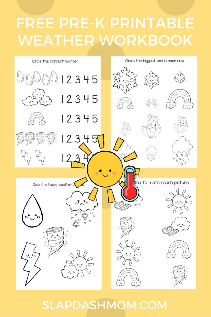 Free Preschool Weather Activity Book Slap Dash Mom Weather Activities Preschool Preschool Weather Seasons Preschool [ 1102 x 735 Pixel ]