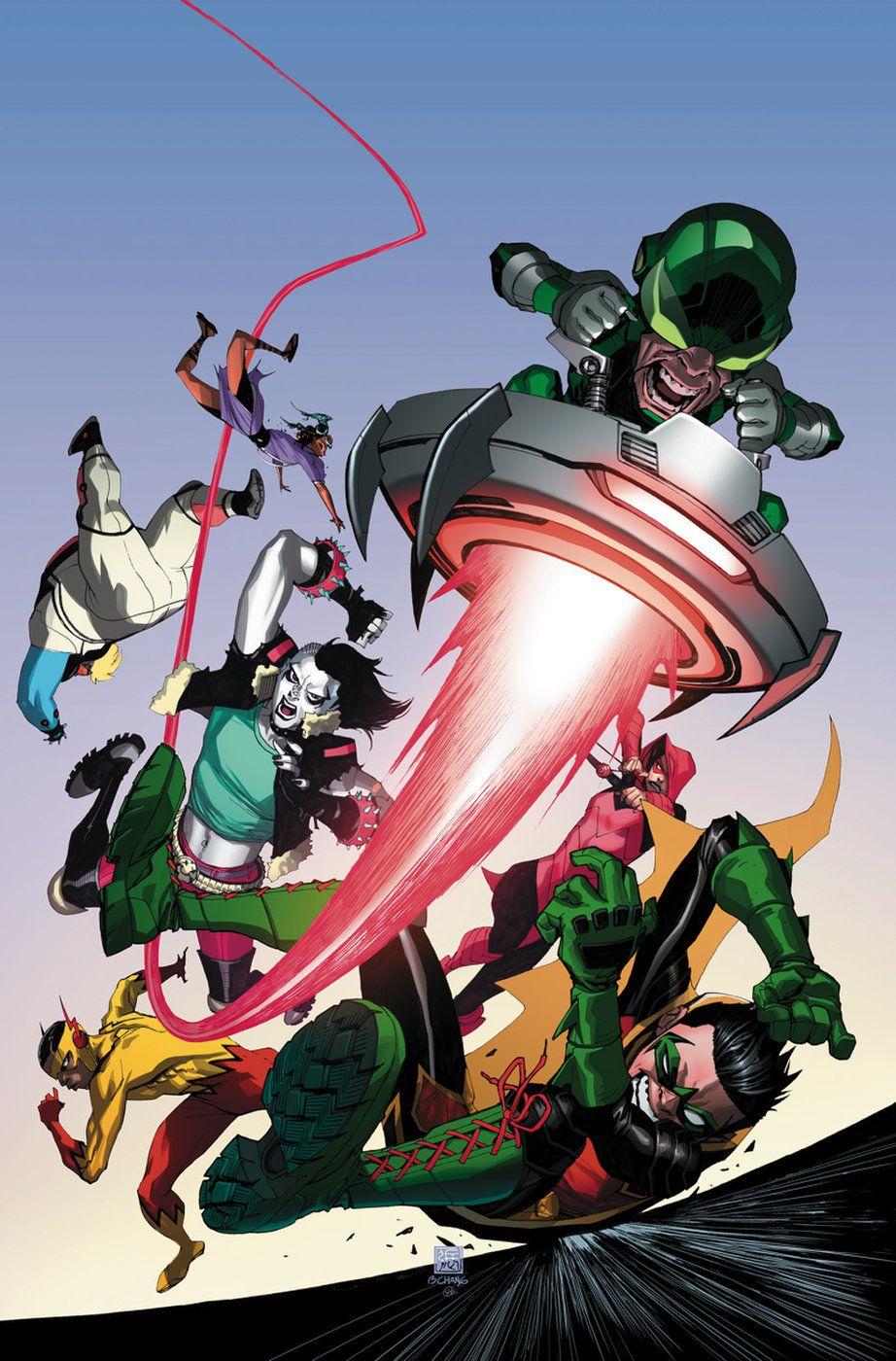 Robin And The Teen Titans Battle Gizmo Robin Dc Comics Comics