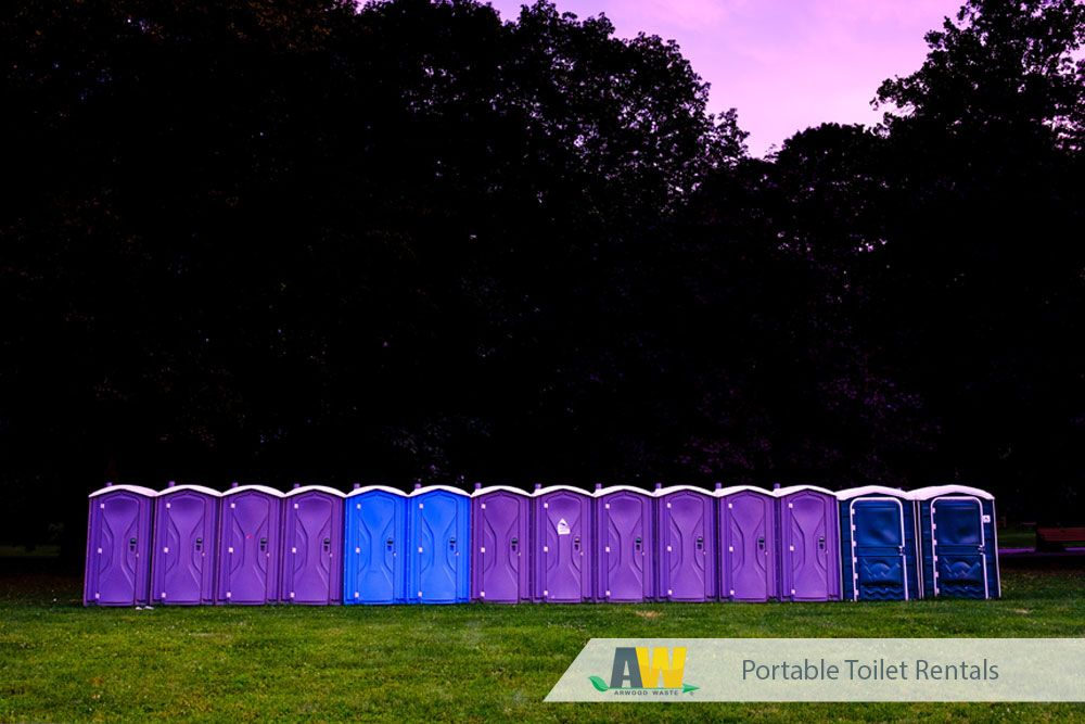 Did you know arwood waste offers portable toilet rentals
