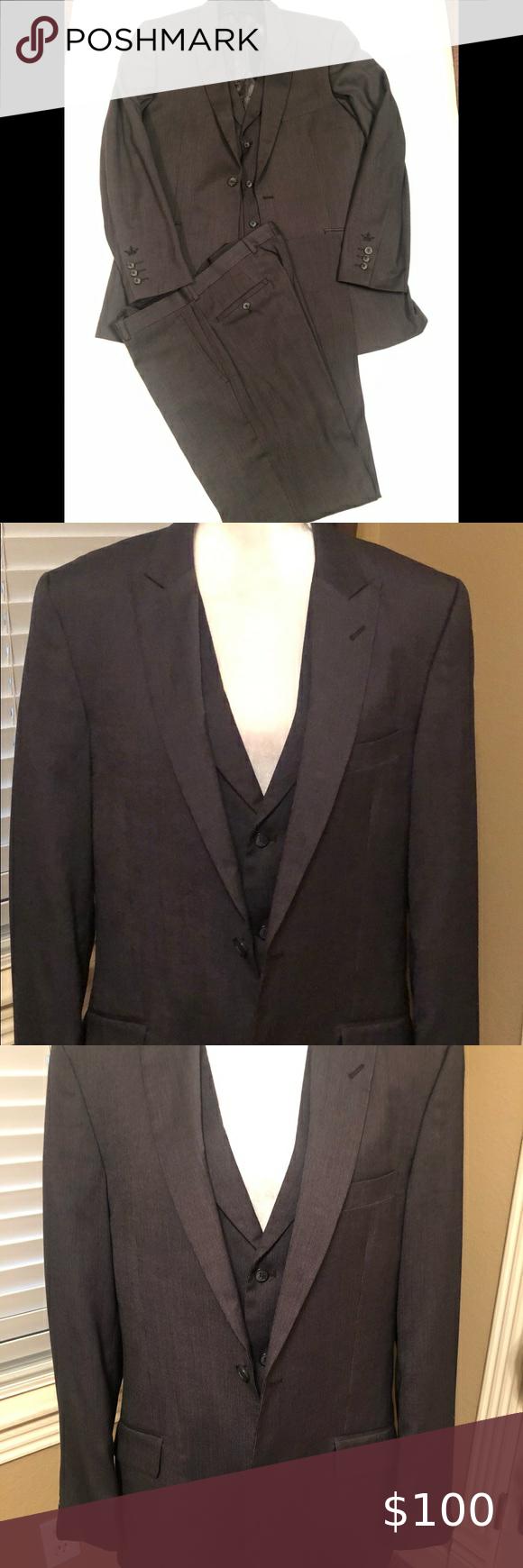 Men S English Laundry 3 Piece Suit Smokin Deal 3 Piece Suits Clothes Design Fashion [ 1740 x 580 Pixel ]