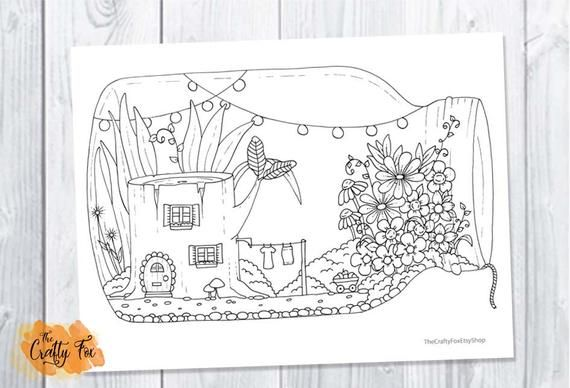 Tree Stump Fairy House in a mason jar - Peaceful Worlds 1 ...