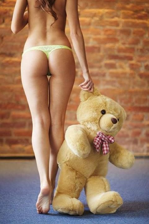 Chicks with toys Hot