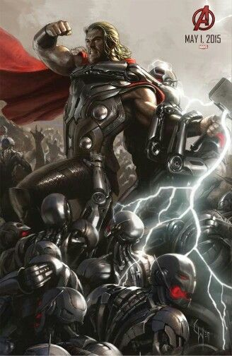 Marvel's The Avengers: Age of Ultron concept art poster: Thor