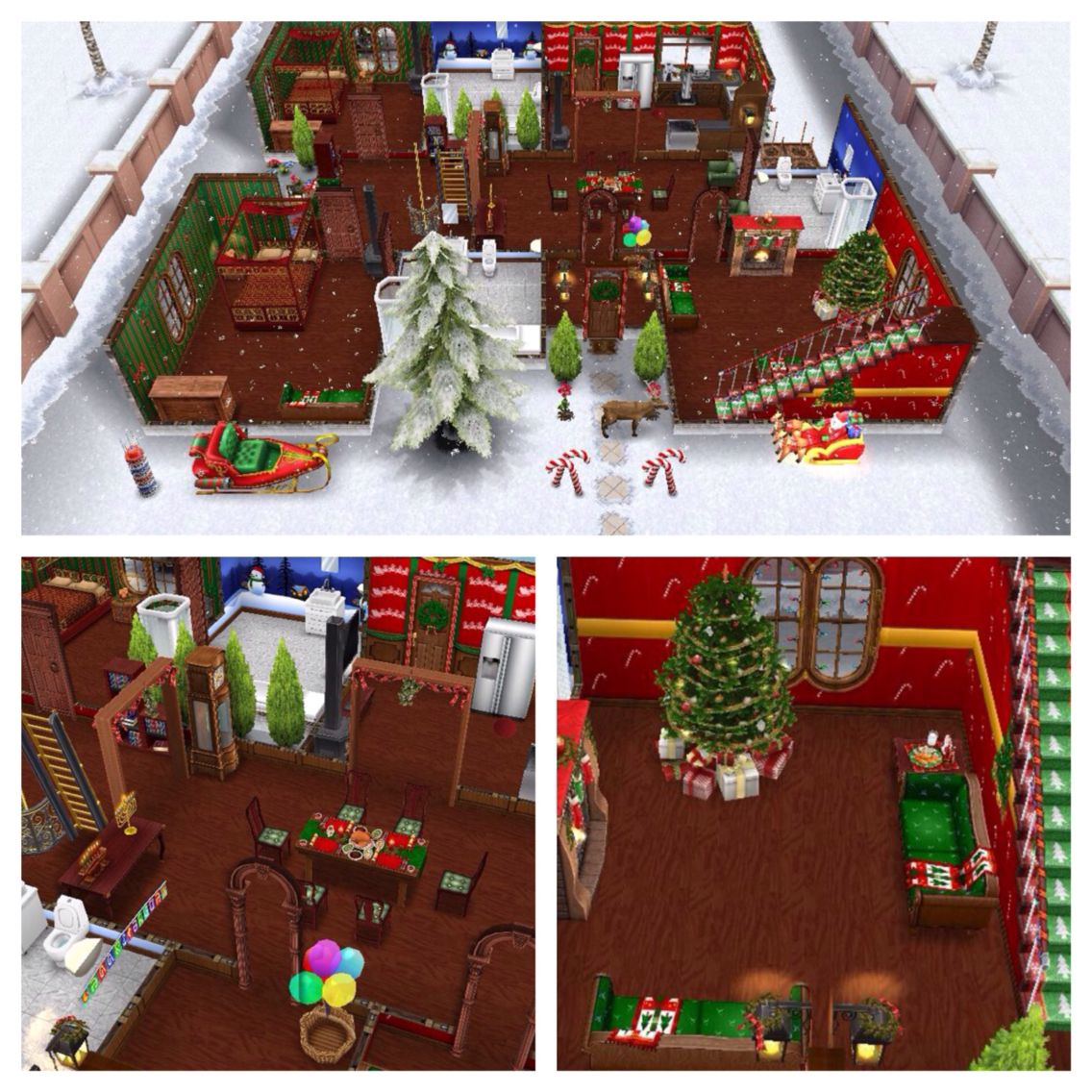 Christmas sims freeplay original house design floor 1 for Casa de diseno the sims freeplay