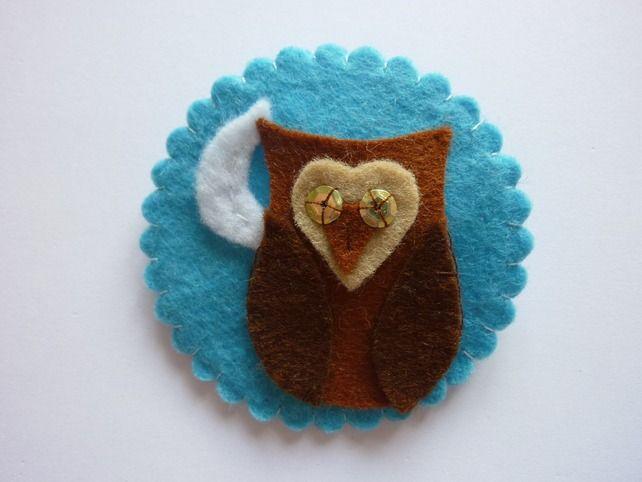 Owl Felt Cameo Brooch £6.00