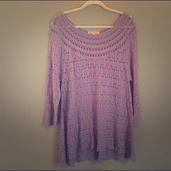 Vintage America Tunic Flowy, light, open-knit tunic. Nine West Tops Tunics
