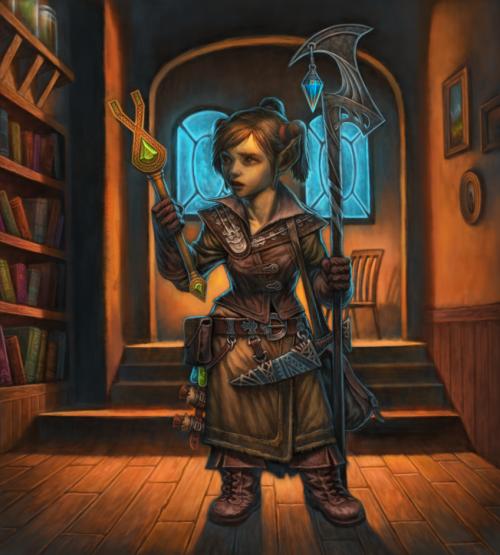 Female Gnome: Fantasy - Gnomes/Halflings
