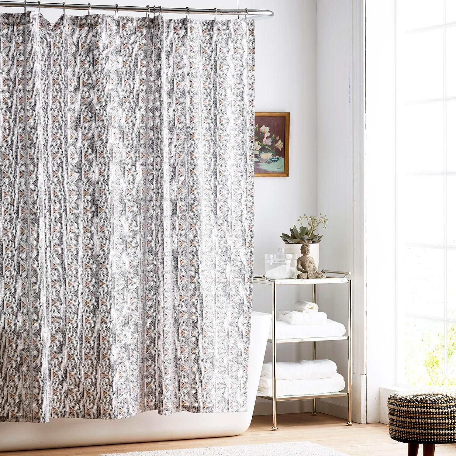 Zahra Organic Percale Shower Curtain The Company Store In 2020