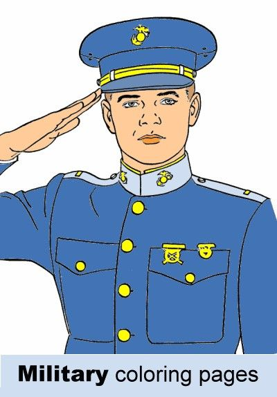 Free military coloring pages army navy air force and for Usmc coloring pages