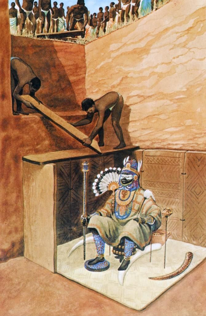 Recreation of 9th century Igbo Ukwu burial chamber by Caroline