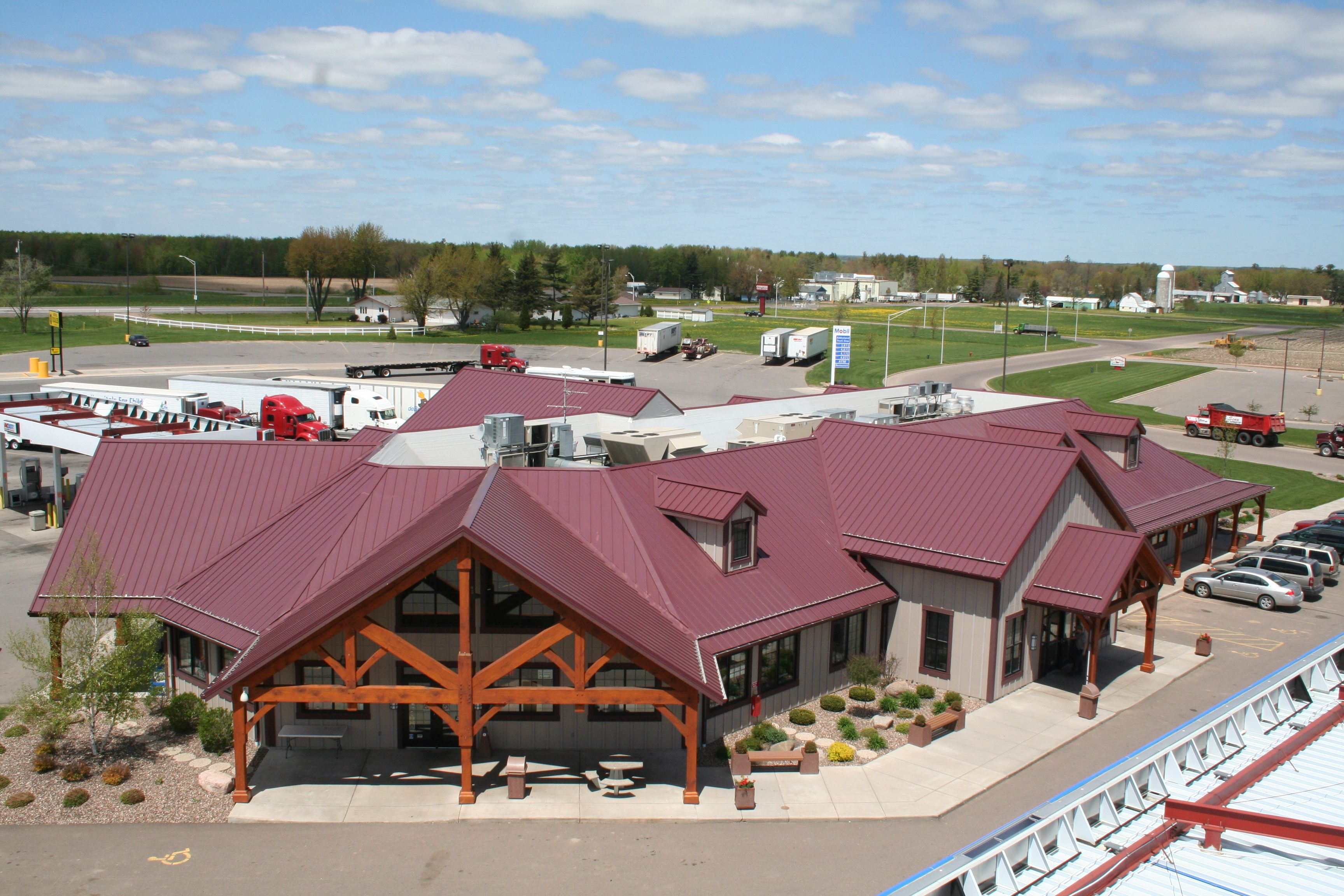Standing Seam Metal Roof In Burgundy. Metal Provided By Coated Metals  Group. Www.