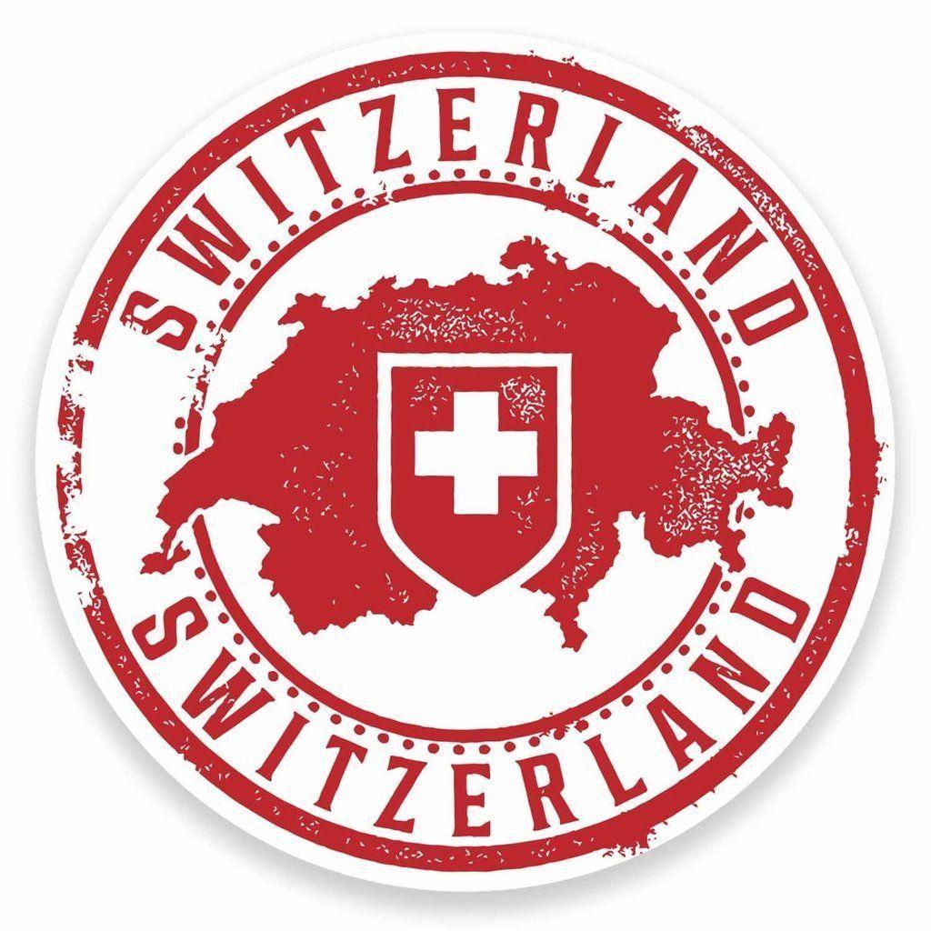 2 X Switzerland Vinyl Sticker Car Travel Luggage 9546
