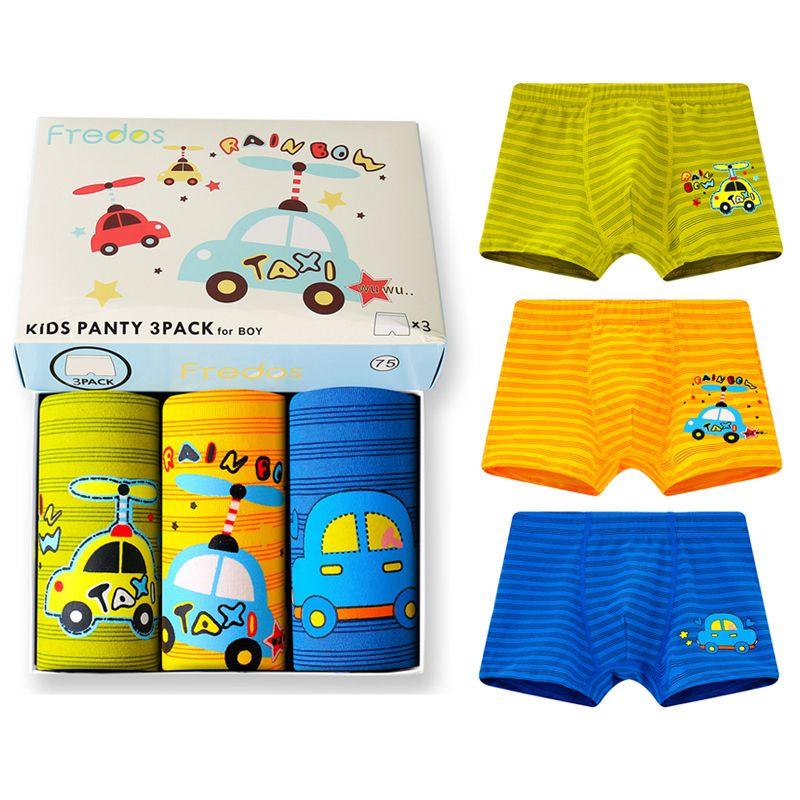 ORPAPA Boys Underwear Toddler Boxer Shorts 6 Pack Kids Cotton Dinosaur Underpants 2-9 Year