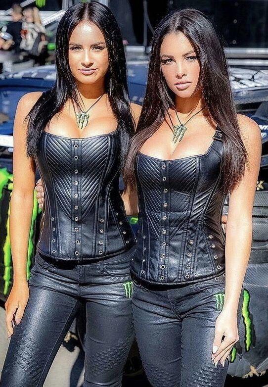 Monster Promo Girls In Black Leather