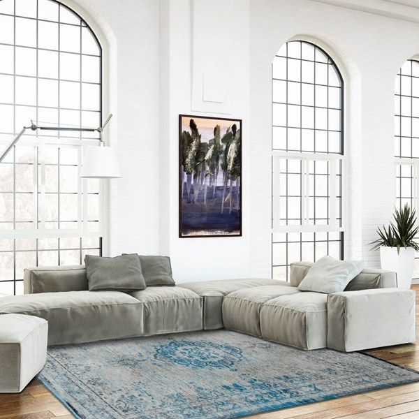 Louis De Poortere Fading World Rugs 8255 Grey Turquoise60x90cm 3a 0 X2a 0 Blue Rooms Grey Rugs Shop Interiors