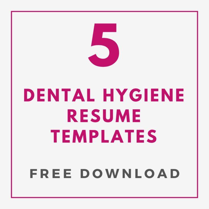 Download 5 free dental hygiene resume templates dental