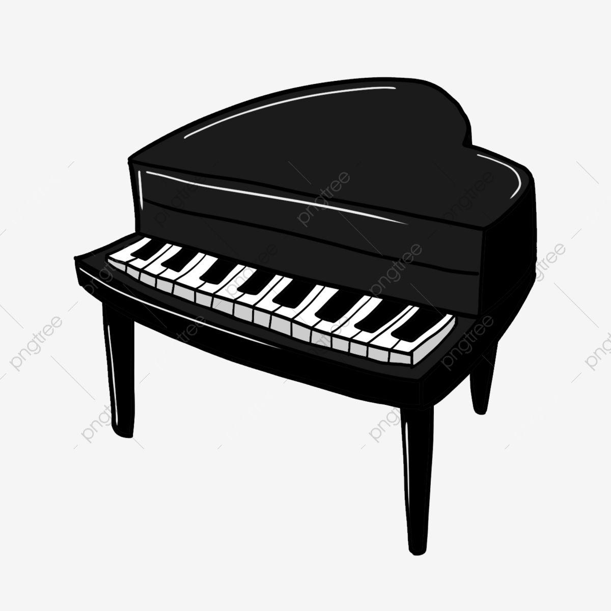 gambar piano hitam alat muzik hitam putih bermain piano piano hitam kartun ilustrasi piano hitam png dan psd untuk in 2020 black piano piano black and white cartoon pinterest