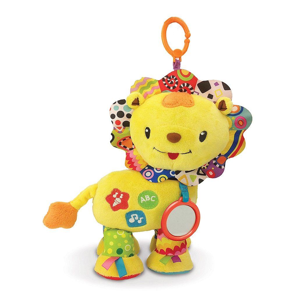 <strong>Vtech - Bebé León</strong>, un peluche con diferentes texturas, un espejito, voz, canciones y melodías. ¡Un bebé león lleno de alegría! Bebé león acompañará al bebé y le divertirá con su entrañable voz y sus alegres canciones y melodías. Tiene dos botones para descubrir los colores, las formas y las letras, diferentes texturas para desarrollar el sentido del tacto y un espejo de seguridad para estimular el sentido de la vista. Gracias al sensor de movimiento incorpor...