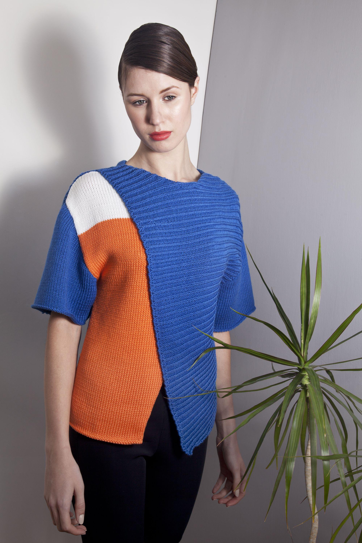 Irish Fashion Knitwear : Honor Fitzsimons : SS14 KIK : 100% Merino Wool  Yale Blue