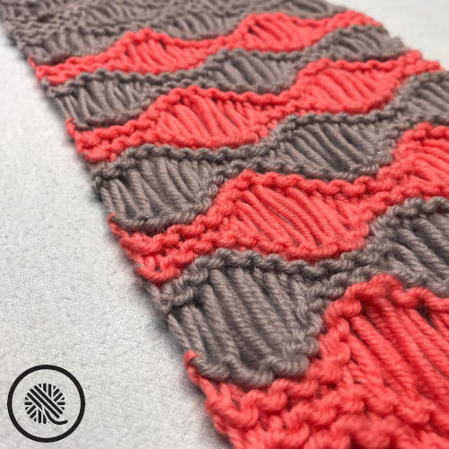 Loom Knit Coral Breezes Infinity Scarf Free Pattern ...