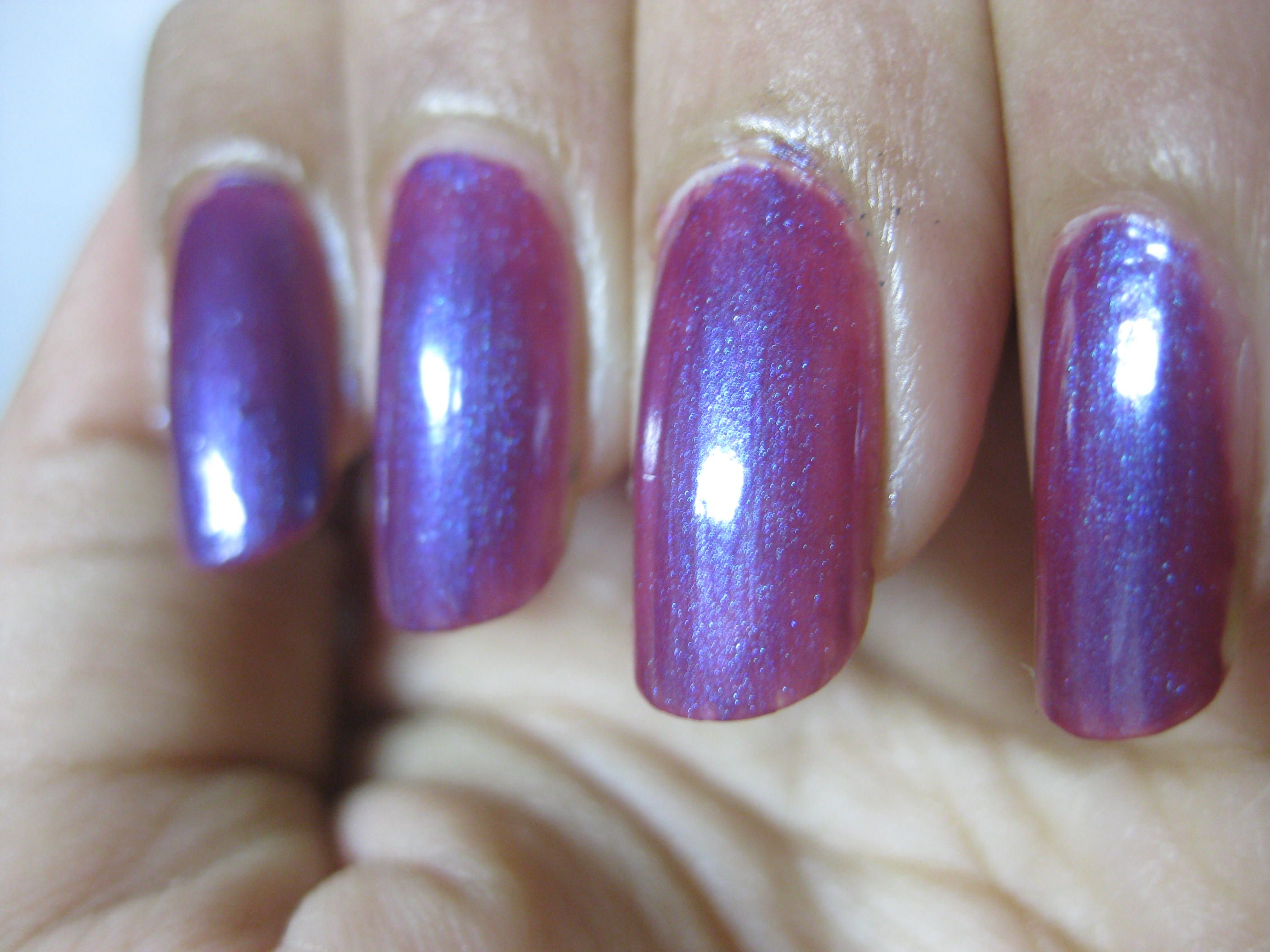 Revlon Icy Violet. This is a purple with blue shimmer running ...