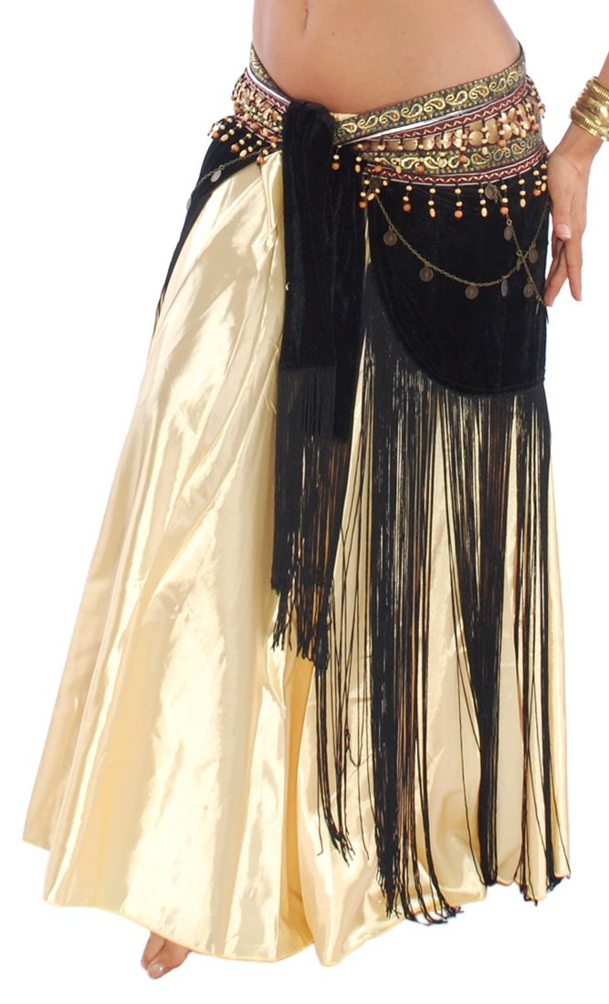 9cc79d390 Arabia Coin & Fringe Velvet Belly Dance Hip Scarf Belt in 2019 ...