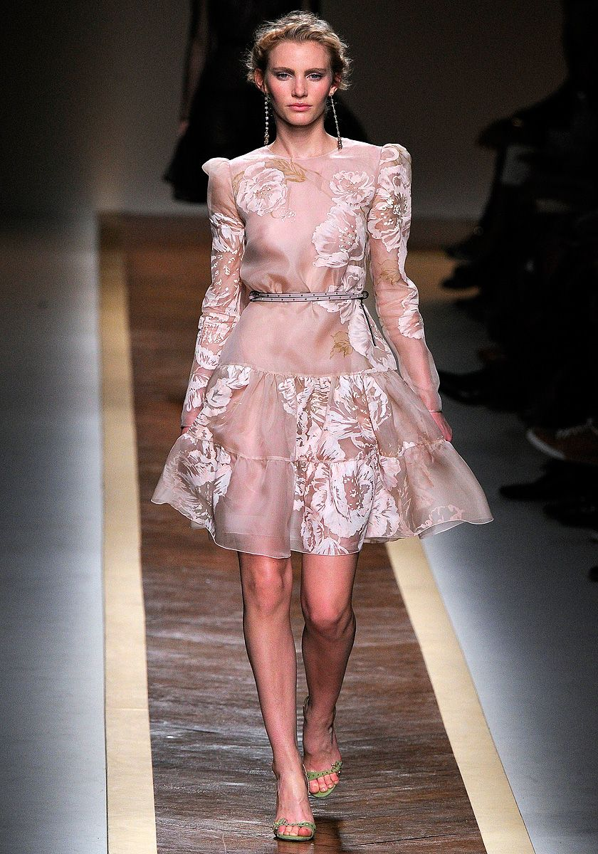 Valentino Spring 2012. This is my fav style of dress, conservative ...