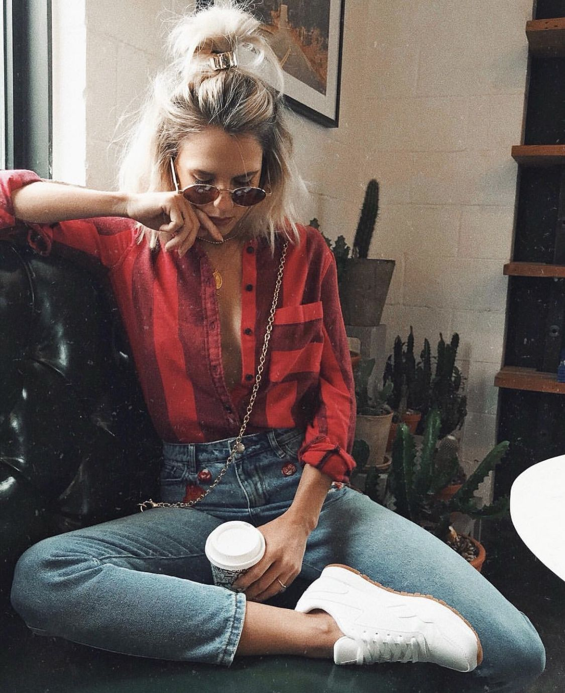 Flannel with shirt underneath  with a cami underneath this flannel YES  wear it  Pinterest