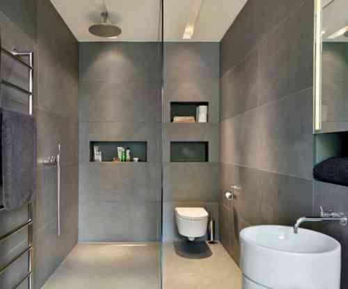 Salle de bain ardoise : naturelle et chic   Revêtement mural ...