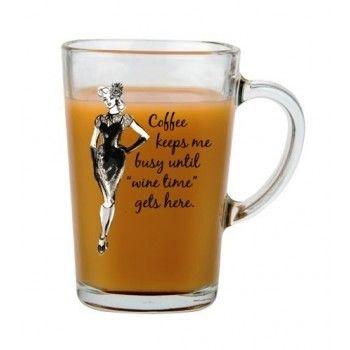 Coffee Keeps Me Busy (Glass Mug)