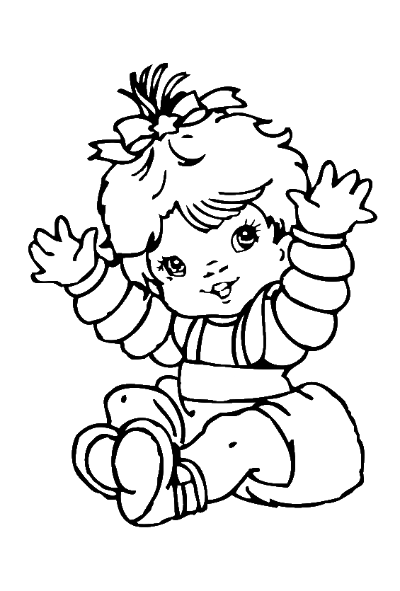 Cute Baby Girl Coloring Pages - Baby Coloring Pages : KidsDrawing ...
