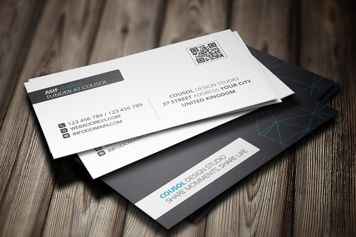 Corporate Facebook Timeline Cover Business Cards Creative Business Cards Creative Templates Business Card Template Design